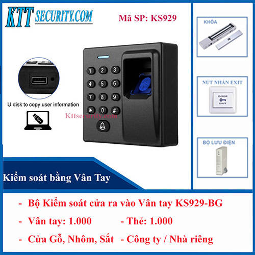 Bộ Kiểm soát cửa ra vào Vân tay KS929-BG