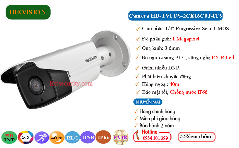 Camera-Hikvision-1MP-HD-TVI-DS-2CE16C0T-IT3