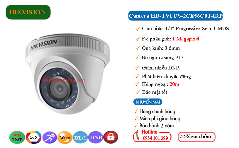 camera-hikvision-1mp-hdtvi-DS-2CE56C0T-IRP