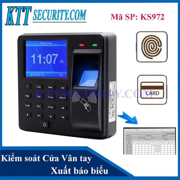 Access Control | Kiểm soát ra vào Vân tay KS972