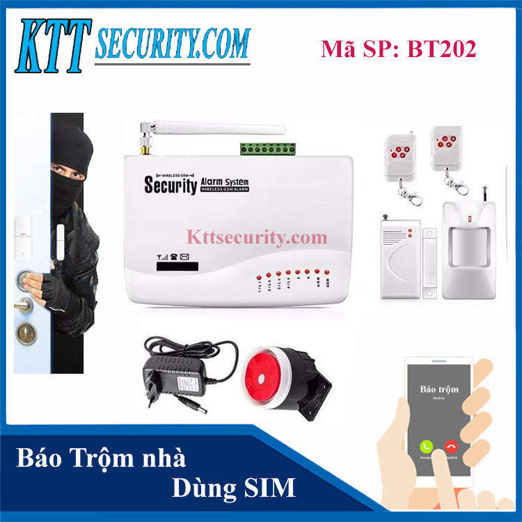 Báo trộm không dây GUARDSMAN dùng SIM | BT202