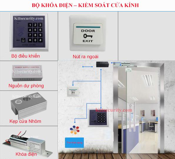 Bộ khóa điện tử cửa Kính | ID236MG