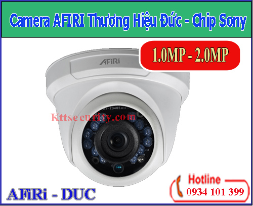 Camera AFIRI Chip Sony 1MP [HDA-D111PT;HDA-D111MT]-2MP[HDA-D211P;HDA-D211M]