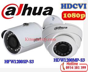 Camera Dahua 1080P HAC-HFW1200SP-S3 và HAC-HDW1200MP-S3