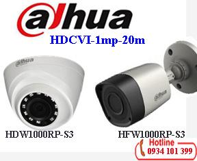 Camera Dahua 1mp HAC-HDW1000RP-S3/HAC-HFW1000RP-S3