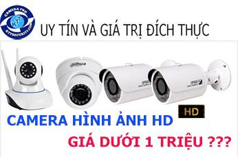 Camera giám sát cho hình ảnh HD có mức giá dưới 1 triệu