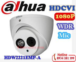 Camera HDCVI cao cấp 1080P Dahua DH-HAC-HDW2221EMP-A