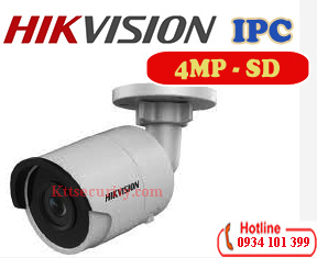 Camera Ip 4MP Hikvision DS-2CD2043G0-I,thẻ SD