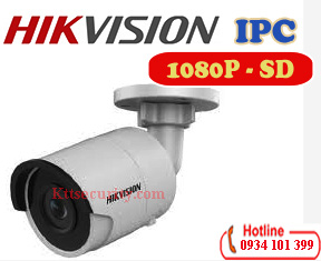 Camera ip Hikvision DS-2CD2023G0-I,1080P,thẻ nhớ