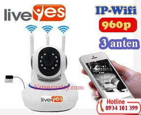 Camera Ip wifi 1.3M LiveYes 3 Anten