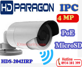 Camera IP Wifi 4MP hdparagon HDS-2042IRP