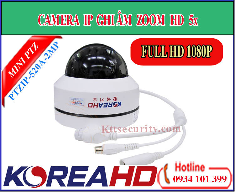 Camera KoreaHD IP mini PTZ PTZIP-520A-2MP