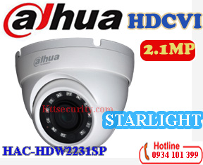 Camera starlight 1080P Dahua HAC-HDW2231SP