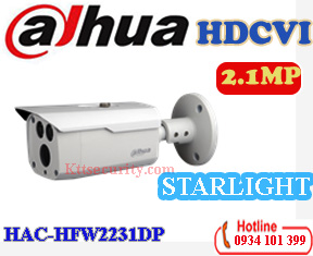 Camera Starlight 1080P Dahua HAC-HFW2231DP