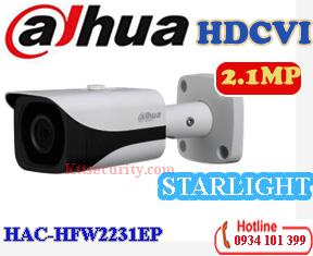 Camera starlight 1080P Dahua HAC-HFW2231EP