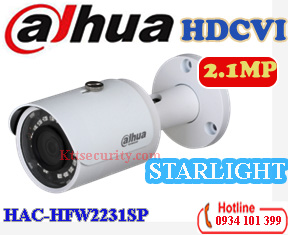 camera starlight 1080P dahua HAC-HFW2231SP