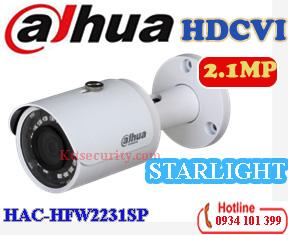 camera starlight 1080P dahua HAC-HFW2231SP