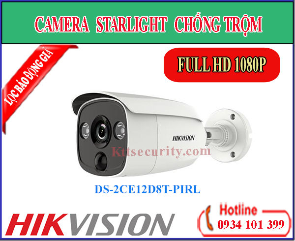 Camera Starlight chống trộm DS-2CE12D8T-PIRL