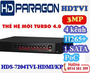 Đầu 4 kênh HDS-7204TVI-HDMI/KP và đầu 8 kênh HDS-7208TVI-HDMI/KP và Đầu 16 kênh HDS-7216TVI-HDMI/KP
