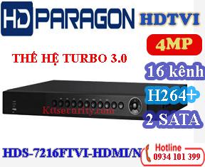 Đầu ghi 16 Kênh HDPARAGON HDS-7216FTVI-HDMI/N