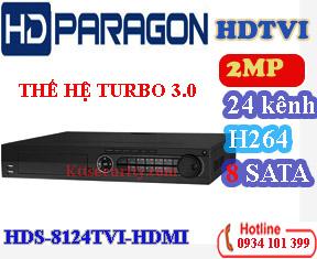 Đầu ghi 24 kênh hdparagon HDS-8124TVI-HDMI,8 SATA