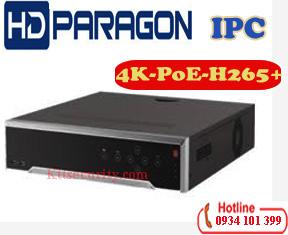 Đầu ghi hình IP 4K HDparagon HDS-7716NI-K4/PE,16 kênh,PoE
