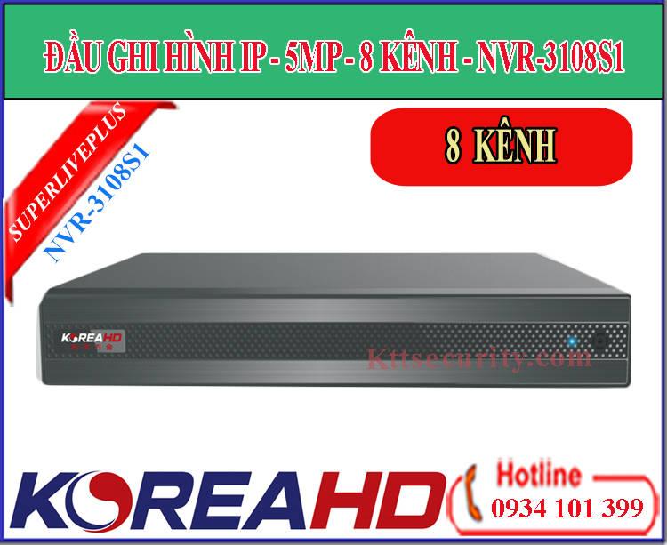 Đầu ghi hình ip Koreahd 8 kênh NVR-3108S1