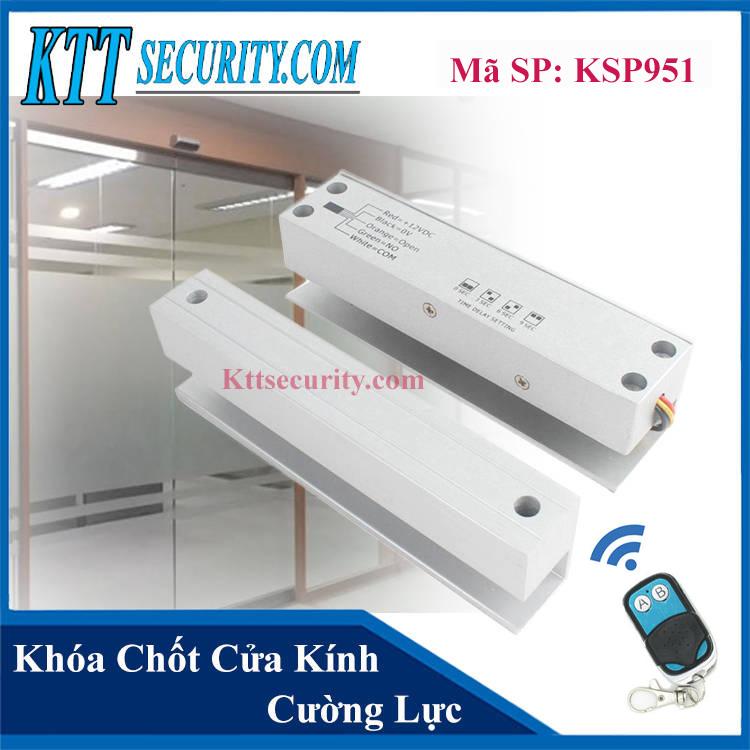 Khóa Cửa kính cường lực dùng Remote | KSP951