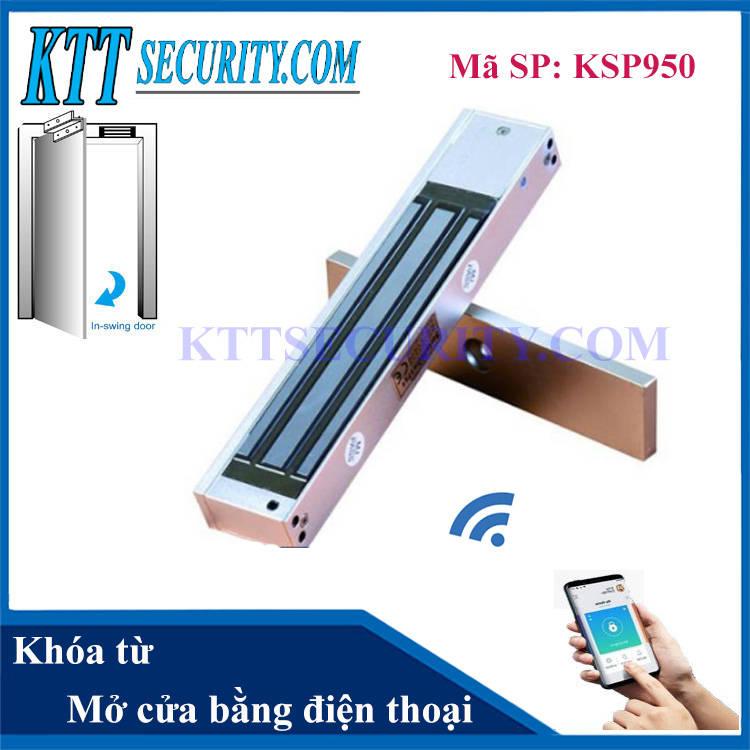 Khóa từ cửa gỗ mở cửa bằng điện thoại | KSP950