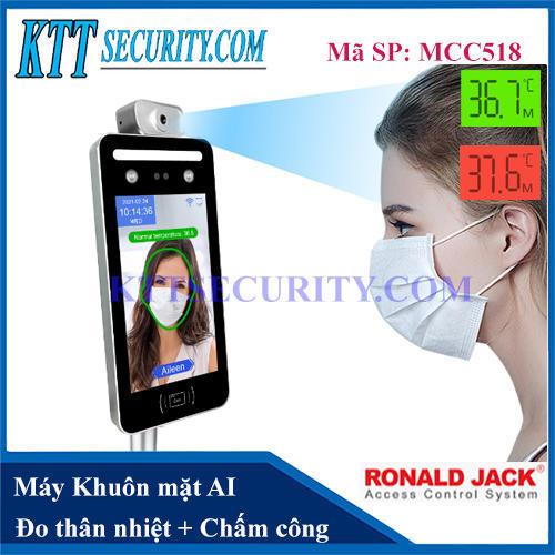 Máy Chấm công Khuôn mặt AI đo Thân nhiệt | MCC518