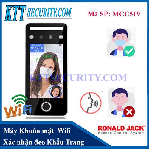 Máy Chấm Công Khuôn mặt Wifi AI | MCC519