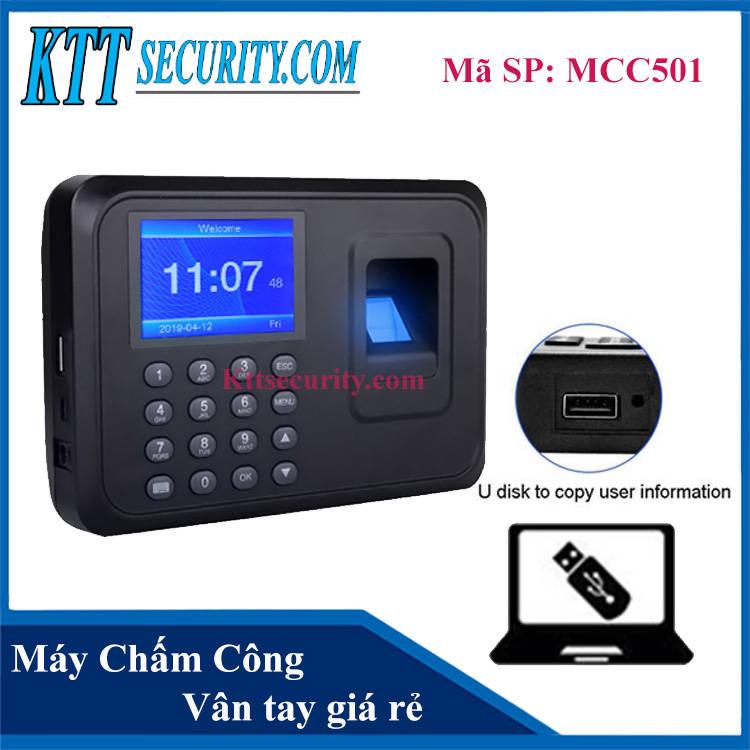 Máy chấm công vân tay giá rẻ | MCC501