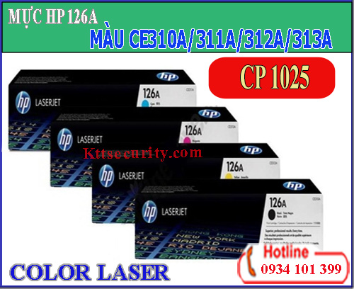 Mực HP laser màu 126A[CE310A-CE311A-CE312A-CE313A]dùng cho máy CP 1025