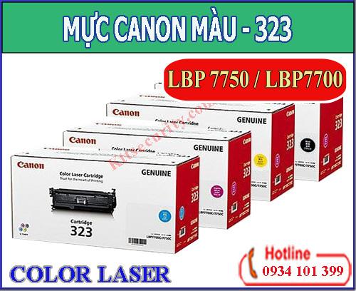 Mực in laser màu Canon 323(Đen,Xanh,Vàng,Đỏ)Dùng cho máy Canon LBP 7750