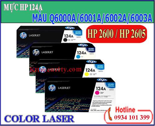 Mực laser màu 124A[Q6000A-Q6001A-Q6002A-Q6003A]dùng cho máy HP 2600