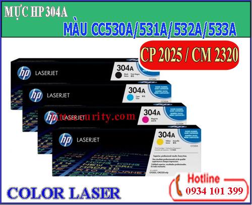 Mực laser màu 304A[CC530A-CC531A-CC532A-CC533A]dùng cho máy CP 2025/CM 2320
