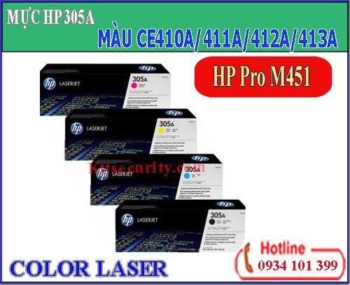 Mực laser màu 305A[CE410A-CE411A-CE412A-CE413A]dùng cho máy HP Pro M451