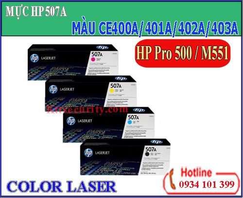 Mực laser màu 507A[CE400A-CE401A-CE402A-CE403A]dùng cho máy HP Pro 500-M551