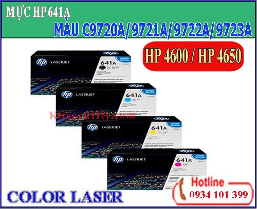 Mực laser màu 641A[C9720A-C9721A-C9722A-C9723A]dùng cho máy HP Pro 4650