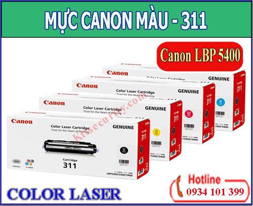 Mực laser màu Canon 311(Đen,xanh,vàng,đỏ)dùng cho LBP5300/LBP5400