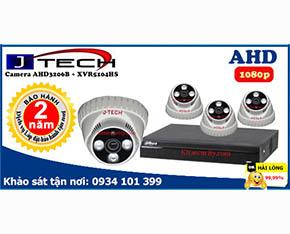 Trọn bộ camera J-Tech 1080P AHD3206B+Dahua XVR5104HS