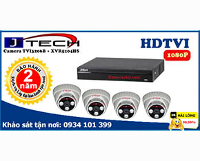 Trọn bộ Camera J-tech 2mp TVI3206B+Dahua-XVR5104HS